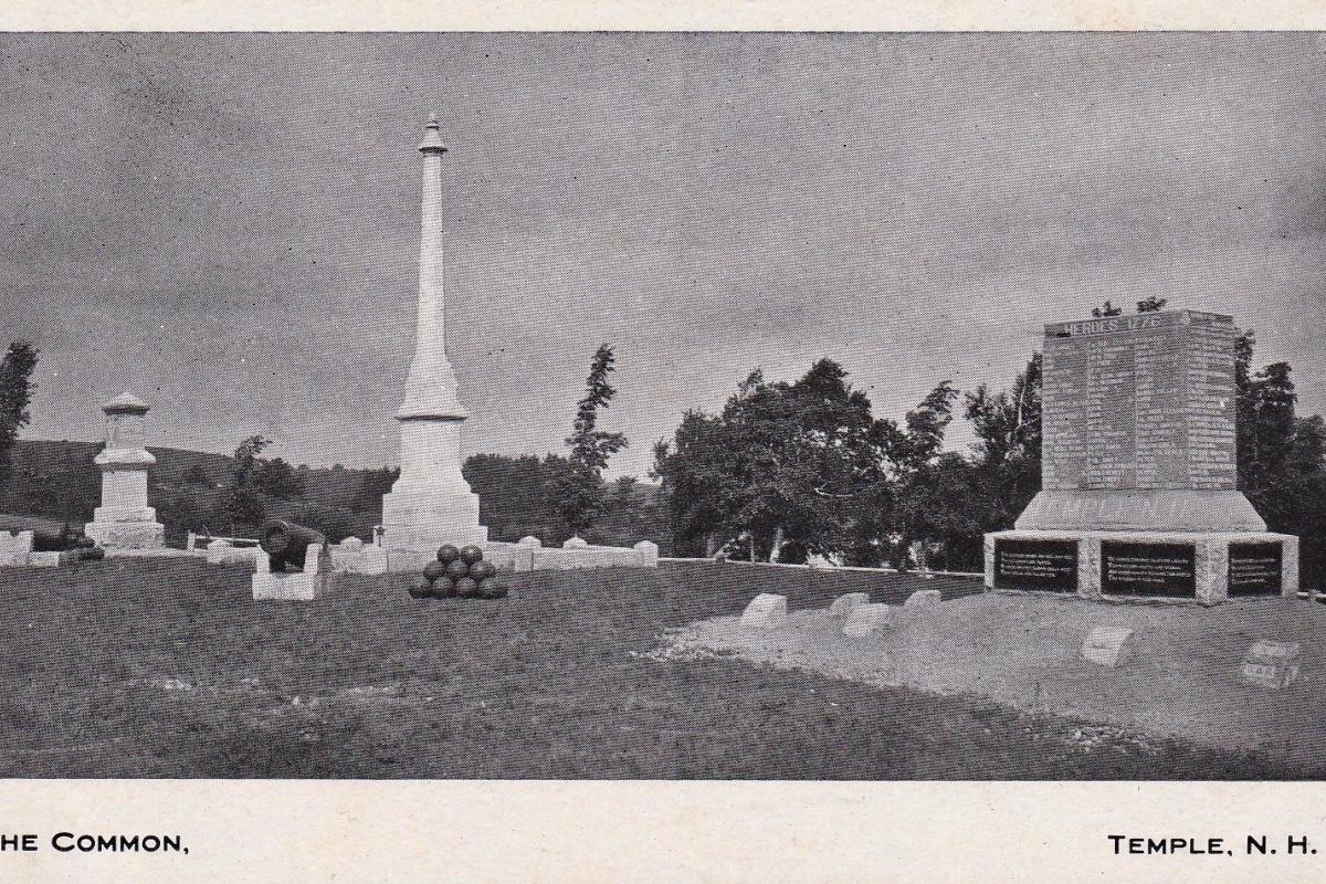 View of the Common shortly after placing stone and before planting trees