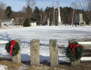 wreaths on the common