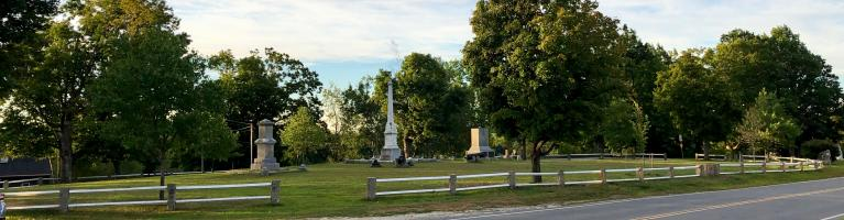 view of the Common from across Route 45